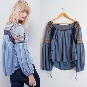Free People Snow Kisses Blouse